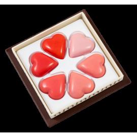 Coffret 6 cœurs Saint Valentin