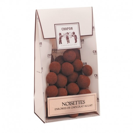 Bag of caramelised and coated hazelnuts...