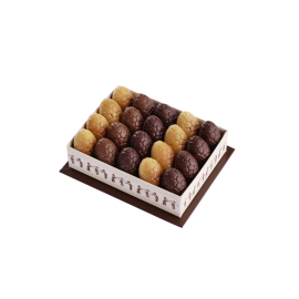 Coffret 20 Oeufs Fourrés Assortis Transparent