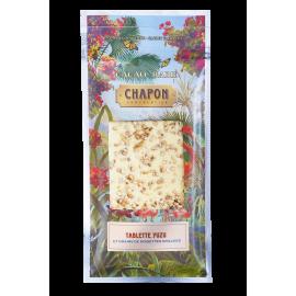 Yuzu White Chocolate Bar and Roasted Hazelnut Seeds