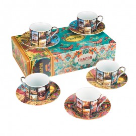Box set of 6 chocolate cups