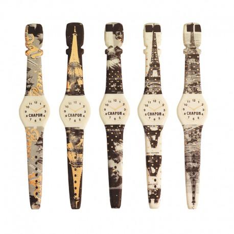 La montre Paris assortie blanc