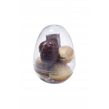 7 cm crystal egg - praline eggs
