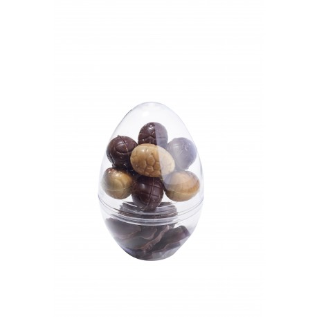 Crystal egg 14 cm - Assorted pralines and dry fries