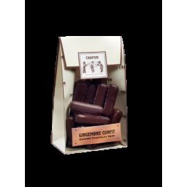 Poche gingembres confits enrobées chocolat noir
